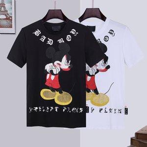 Casual 100% Cotton skull tshirt Luxury T-Shirt men t shirt PP phillip plain Tshirts Round neck embroidery designs Couples Tee Male Top hoodies fleece cc hangbag do gi