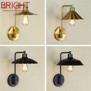 Wall Lamps BRIGHT Creative Light Sconces LED Retro Design Loft Fixtures Decorative For Home Corridor