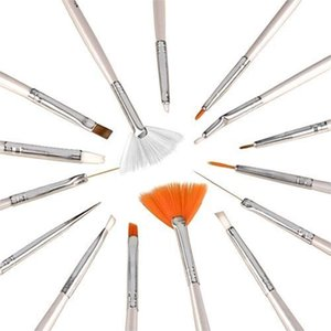 QualityNail Brushes for Manicure Acrylic Nails Art Brush Design Dotting Pen Gel Polish Painting Drawing Supplies Accessories Tools Set