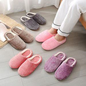 Kapalı Sıcak Terlik Kadın Kabarık Pantuflas Zapatillas Casa Mujer Pantoufle Femme Zapatos Invierno Flats Ayakkabı