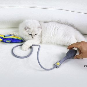 Floppy Fish Cat Kick Chew Toy Interactive Catnip Realistic Manual Airbag Wiggle Tail Kitten Pillow With Bell HWA7485