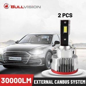 Car Headlights Bullvision LED D1S 30000LM CSP Chips HID D2S D3S D4S D5S D8S D1R D2R D3R D4R 70W 6000K White Canbus Error Free 2PCS