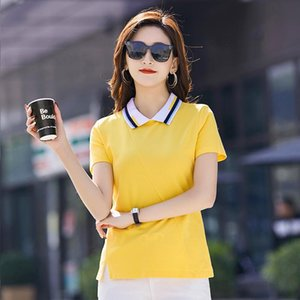 Summer Wear Women's Clothing Ins Hit High Quality Cotton Color Female T-shirts, Shirts With Short Sleeves T-Shirt
