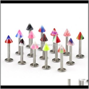Plugs Tunnels 10 20 30 Pc Stainless Steel Jewelry Lot 16G Set Horizontal Lip Piercing Vertical Labret Ring F Ysyg0 H6Qas