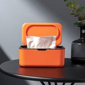 Tissue Boxes & Napkins Desktop Box Holder Modern Dustproof Easy Use Wet Wipes Dispenser For Home Office Drop