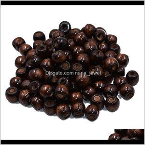 Wood 200Pcs Coffe Color Woodgrain Spacer Bead For 12Mm Diy Jewelry Making O5Xlm H8Sfn