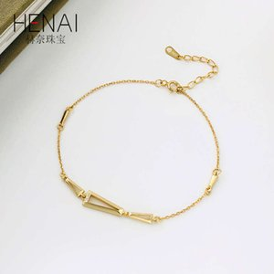 link Hennessy S925 Sterling Silver personalized design geometric Bracelet creative hollow out for women