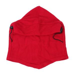 Cycling Caps & Masks Outdoor Cap Windproof Keep Warm Fleece Face Mask Balaclava Bike Winter Neck Hat Head Scarf Ski (Red)
