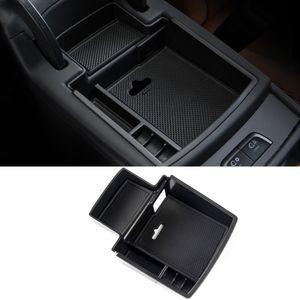 For Audi Q5 8R 2012-2016 Car Accessories Central Armrest Storage Box Compartment Organizer Case Container Holder Decoration
