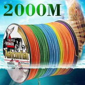 Hollowcore Braided Fishing Line 2000M Resistant For Sea Ocean Boat Ice Thread Spliced 20LBS-500LBS Tackle Rope Saltwater Braid