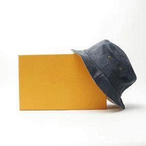 Gorra de sombrero de cubo reversible para hombre mujer unisex transpirable stingy brim sombreros de la calle Caps de lona 4 colores de alta calidad