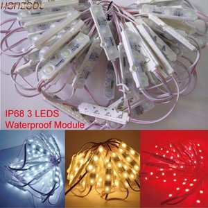 100pcs lot 5630 3 LED Modules Injection Bar Light White Warmwhite Blue Red Module Waterproof IP68 DC12V For Decoration Strips