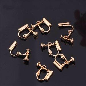 Ohrring Clip Converter-Befunden Farbhalterung Ohrringclip ohne Ohrloch DIY Schmuckherstellung 210 W2