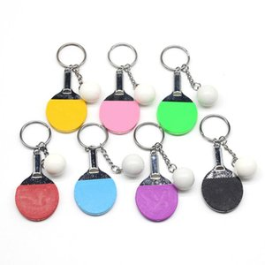 Free ship Table Tennis Keys chain Gifts Sports Keychain gift Key Rings GSKR174 mix order 20 pieces a lot keychains