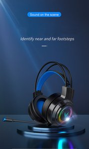 Head-mounted computer noise reduction gaming Headphones lightweight structure, 360 omnidirectional microphone Suitable for multiple devices