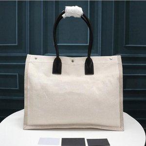 Diseñador de bolso de lujo Rive Gauche Totes Bolsa de compras de hombros Top Calidad de moda Ropa de moda Grande Bolsas de viaje de la playa El Cluth