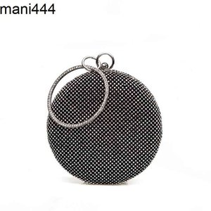 2021 muring new hand sewn diamond round drum shaped banquet evening bag