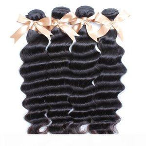 4pcs lot Indian hair cheap price remy hair bundles natural black loose deep wave Indian human hair weavings dhgate greatremy sell