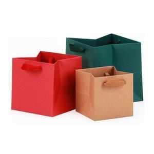 선물 포장 광장 Bolsas 드 Papel 크리스마스 가방 베이비 샤워 Cajas 카톤 꽃 포장 용지 휴대용 대비 Zakjes