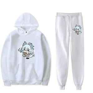 Healer Kaifuku Redo Jutsushi YOK YARINAOSHI Setuna erkek Set Hoodie Pantolon Eşofman Anime Spor Kapüşonlu Track Suits Erkek Eşofman