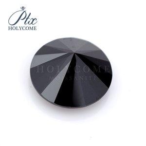 Jewlery wholesale high quality VVS clarity Black loose VVS Round cut 2ct 8mm synthetic moissanite diamond