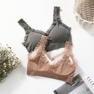 Lace Suspender New with One Piece Back Wrapped Vest Without Steel Ring in Solid Color and Women's Bra Underwear 4E64