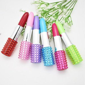 Cute Student Creative Lipstick Plastic Novelty Ballpoint Pen Kawaii Roller Ball Pens for Kids Writing Gift Korean Stationery Ga321