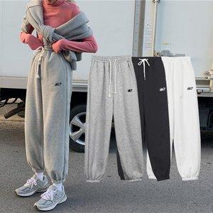 Autumn Winter Ladies Japanese OL Black Harem Pants Breathable Thick Casual Plus Velvet Simple Trousers For Women Women's & Capris