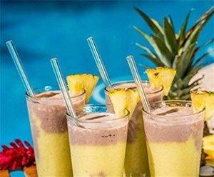 20 cm Reusable Wedding Birthday Party Straight Clear Glass Drinking Straws Thick Straws Barware NHA7481
