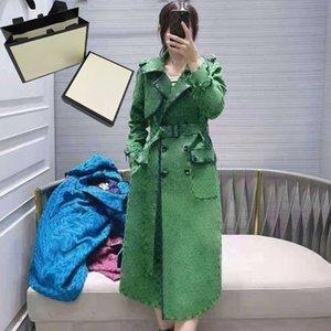 4 Farbe Buchstaben lange Mäntel 21AW Grace Klassische Womens Jacken Mode Druck Winddicht Winter Warme Kleidung Für Mädchen Großhandel
