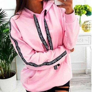 Women Casual Long Mouw Sweatshirt Effects Loose Trunks Herfst Plus Size Tops Hoodies