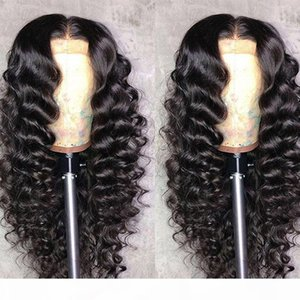 360 Lace Front Human Hair Wigs Pre Plucked Deep Part Loose Deep Wave Glueless Virgin Remy Peruvian 360 Frontal Full Lace Wig