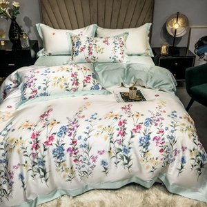 Bedding Sets Quality HomeTextile 60S Austrian Lenzing Tencel Set Embroidery Lyocell Quilt Cover Silky Nude Sleeping Wholesale