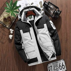 Brand Winter Parkas Men Warm Thick Windproof Jacket Quality Multi-pocket Hooded Coat 's Fashion Waterproof Outwear M-9XL 210922