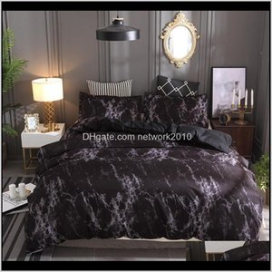 Marble Pattern Bedding Sets 2 3Pcs Set Twin Double Queen Quilt Bed Linen Duvet Cover Bedspread Pillowcase Ahm6D Iqhff