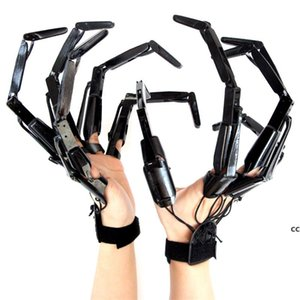 Halloween Articulated Fingers Festival Party Supplies Metal Black Cosplay Accessories Extension Gloves Claws Extender DHF10700