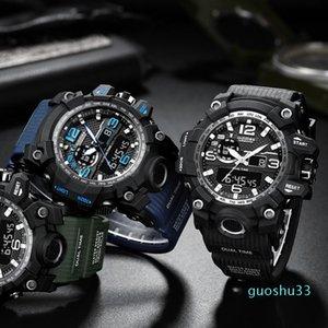 Addies relógio digital para homens 30m impermeável esporte ao ar livre relógios g estilo militar resistência militar relógio de pulso relógio de pulso relógios de pulso