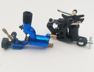 Professional New 2021 Tattoo Machine Gun Handmade Dragon Black 8Coils and 1Pc Plastic Good Motor Blue Dragonfly Rotary Liner Shader For Tattooage Kits Supply