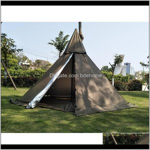 Tents And Shelters A5 Pyramid With A Chimney Holea Tower Smoke Window Tent Park Field Survival Outdoor Wszqm Kfuht