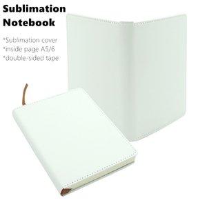 Cuaderno de la cubierta de cuero de imitación en blanco de la sublimación con la página interior A5 A6 DAY DAY DAITY MEMO Sketchbook Home School Office Supplies Gifts