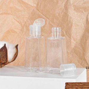 30ML Empty Hand Sanitizer PET Plastic Bottles With Flip Cap Trapezoid Shape Bottle For Makeup Remover Disinfectant Liquid Sample HWE9692