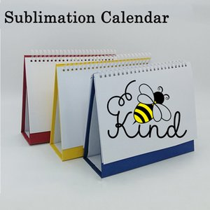 8 inch Sublimation Calendar Party Personalised DIY 23-holes Desk Calendars Blank Heat Transfer Coating Desktop Ornaments