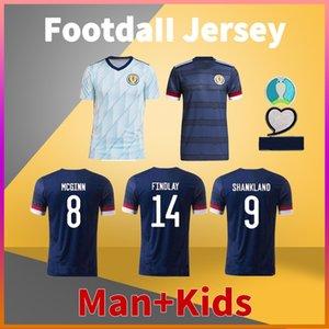 Schottland Home Away Fussball Jersey 20 21 McGregor Robertson Fraser Naismith Christie Forrest McGinn Football Shirt Männer Tshirts + Kinder Kit Uniform