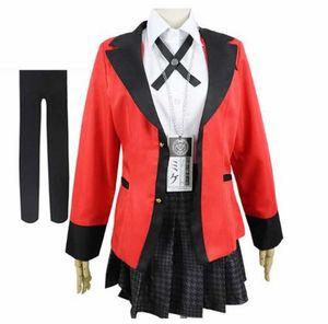 Anime Kakegurui Compulsive Gambler Yomoduki Runa Cosplay Costume Y0913