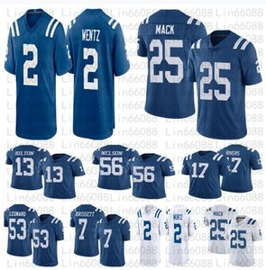 Homens Futebol 53 Darius Leonard 17 Philip Rivers Brissett T.Y. Hilton 2 Carson Wentz 25 Marlon Mack Jersey