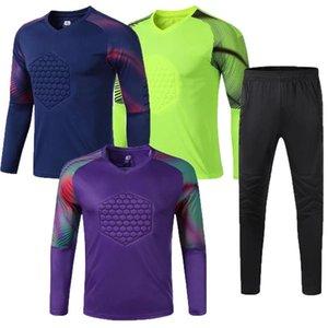 Men Football jerseys Goalkeeper Shirts Long sleeve Pant Soccer goalkeeper Uniforms Training Suit Protection Kits Pants Clothing