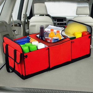 Car Organizer Stowing Tidying Universal Storage Trunk Collapsible Toy Food Truck Cargo Container Bags Box Black