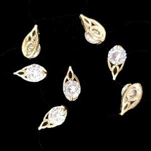Nail Diamond Ювелирные Изделия Роскошные Циркона Художественные Украшения 3D Стразы для Ногтей Подвески Поставки Смешанные Gems 5 ШТ.