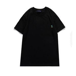 Erkek Saç Modelist Tasarımcı T-shirt Dijital Baskı Moda 21ss T Shirt Yaz Kısa Kollu Yüksek Kalite ve Bayan Boyut S-2XL