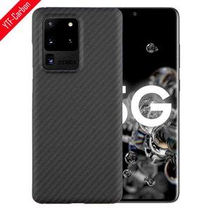YTF mobile phone carbon fiber sheath, Galaxy S20 Fe, plus, ultra 5g anti falling off aramid shell